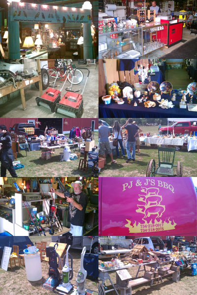 Lovebirds, household items, collectibles, snowblowers, fishing poles, best BBQ, vacuum cleaners, inside and ouitside booths